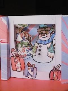Diorama Bonhomme de neige,bien avancé, malooka