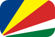 Rounded flag of the Seychelles