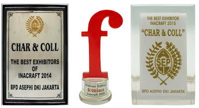 Penghargaan Toko Kado Char n Coll di pameran Inacraft