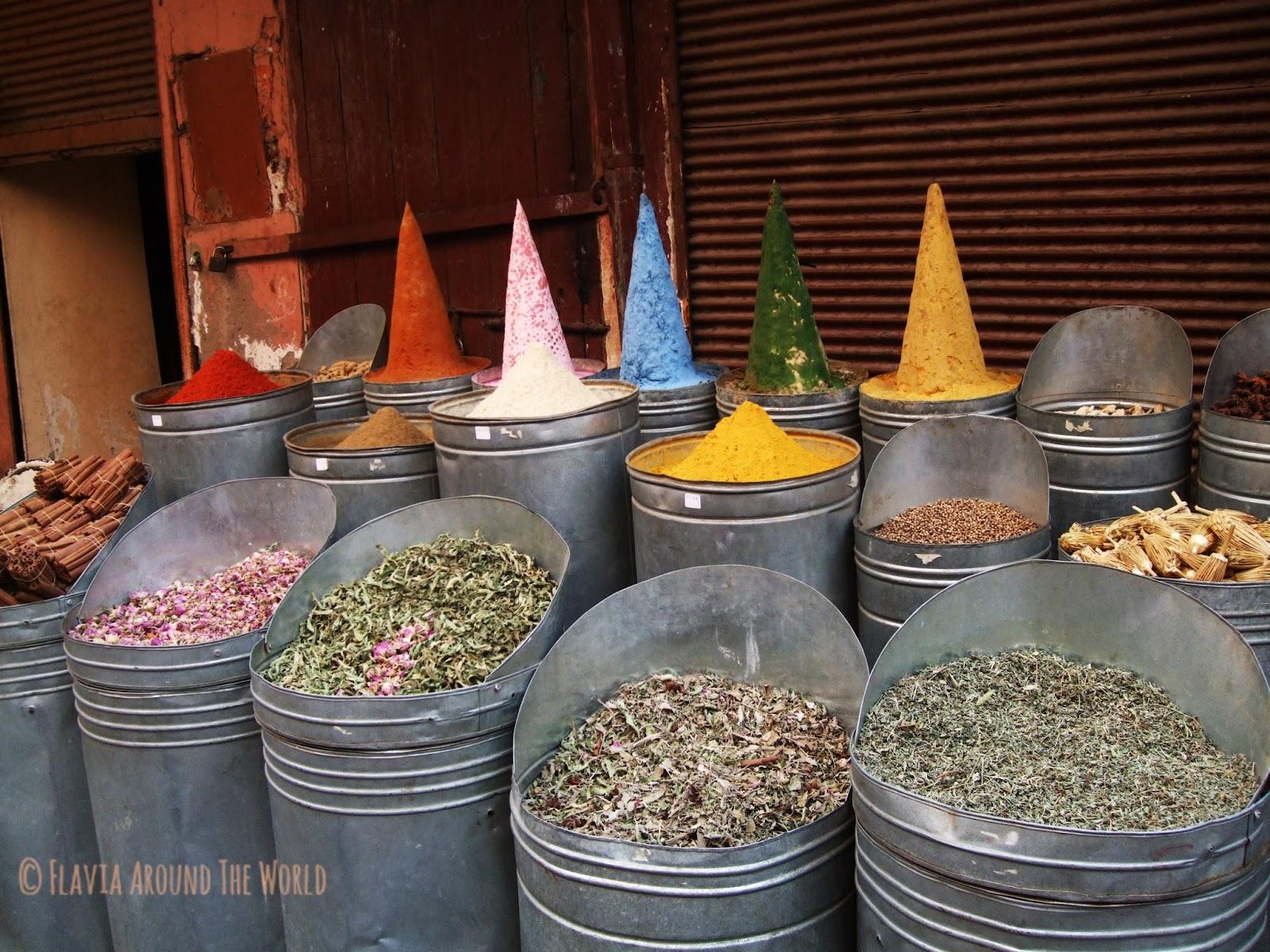 Especias en Marrakesh