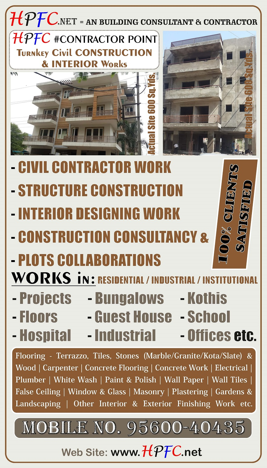 turnkey civil construction and interior works gurugram projects