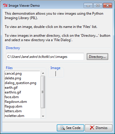 Py In My Eye: Tkinter Image Viewer Demo