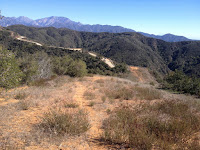 View east toward Glendora Mountain Road returning from Glendora Mountain, Angeles National Forest
