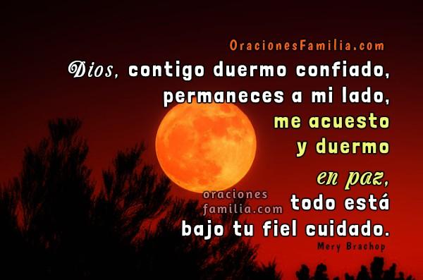 Frases con oración para dormir en la noche, imágenes con oraciones de buenas noches, sueño tranquilo, en paz, mensajes cristianos para orar por Mery Bracho