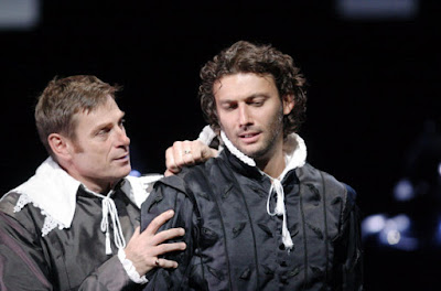 Simon Keenlyside & Jonas Kaufmann in Verdi's Don Carlo at Covent Garden in 2009 - Photo by Caroline Ashmore/ROH
