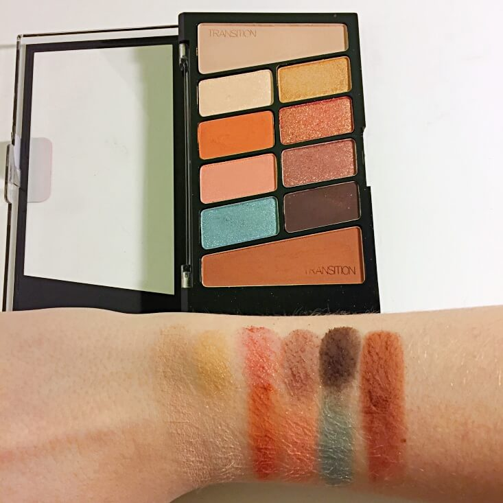wet n wild coloricon 10 Pan Eyeshadow Palette Not a Basic Peach swatches