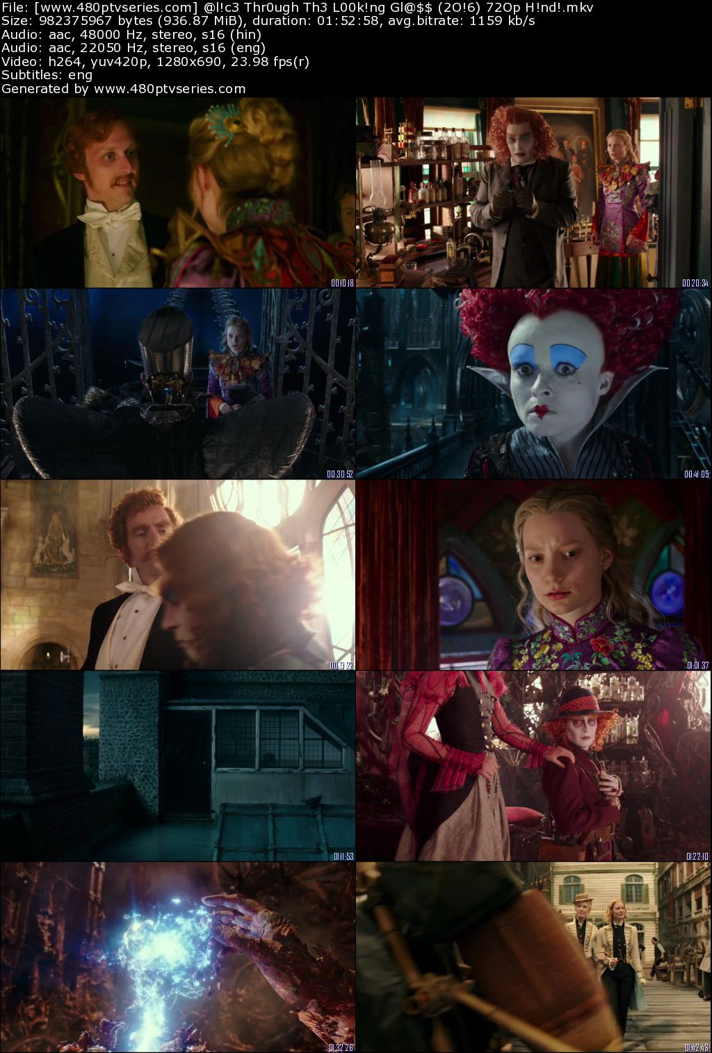 Download Alice Through the Looking Glass (2016) 900MB Full Hindi Dual Audio Movie Download 720p Bluray Free Watch Online Full Movie Download Worldfree4u 9xmovies