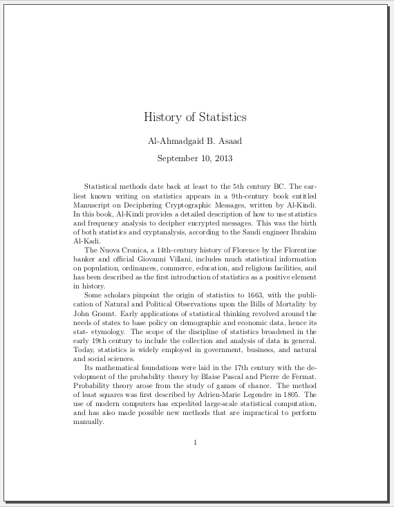 LaTeX: Paragraph, Spacing, and Indentation