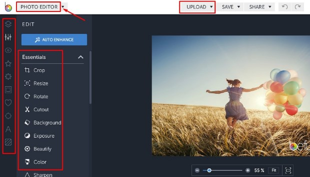 auto photo enhancer online