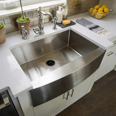 double kitchen sinks with drainboards