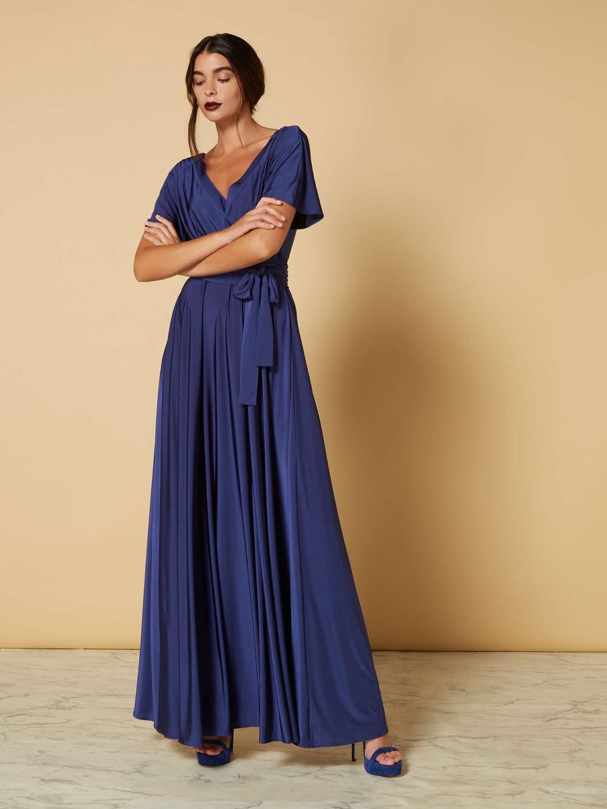 ISSA Off Shoulder Kate Maxi Dress