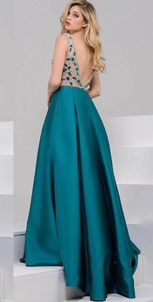 vestido de festa verde saia ampla