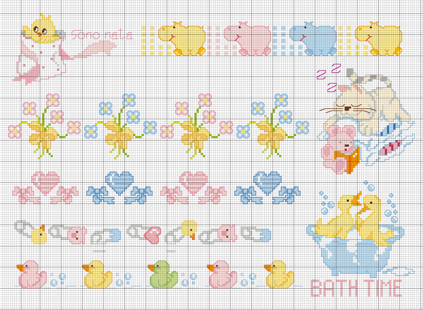 Cosss tich baby cross stitch baby patterns free for Lenzuolini punto croce per bambini