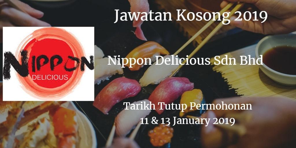 Jawatan Kosong Nippon Delicious Sdn Bhd 11 & 13 January 2019
