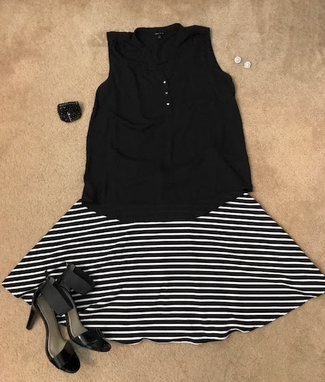 Stripe A-Line Skirt
