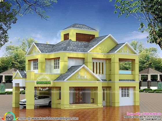 Low budget Colonial type home architecture