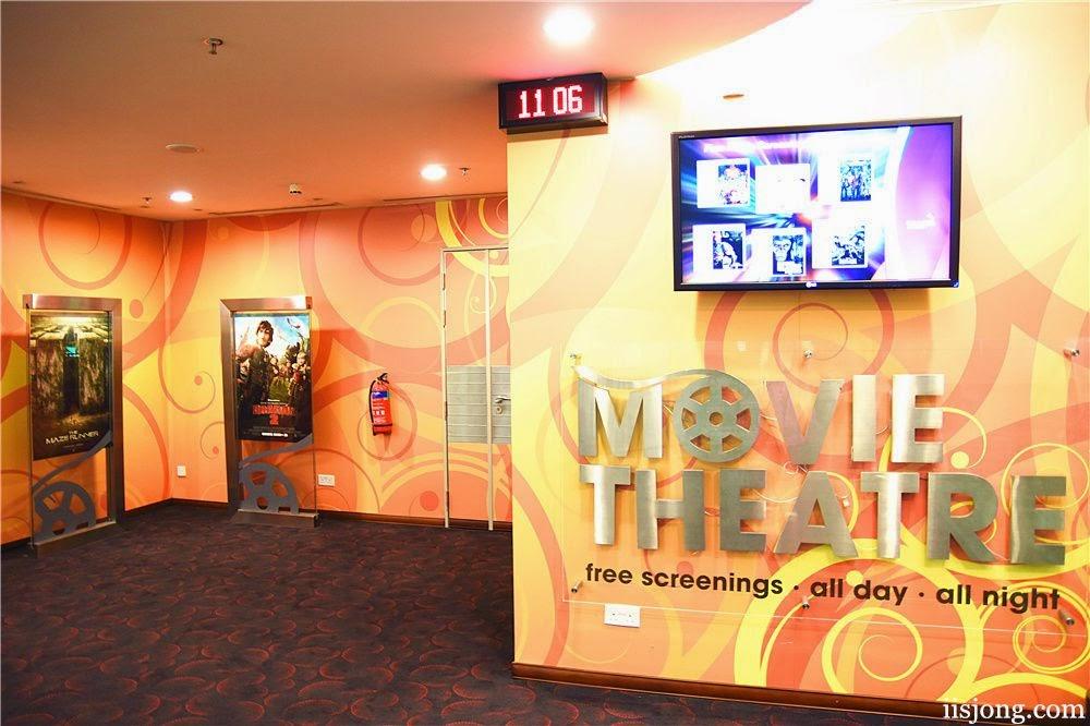 Changi Airport also has a 24 hr cinema