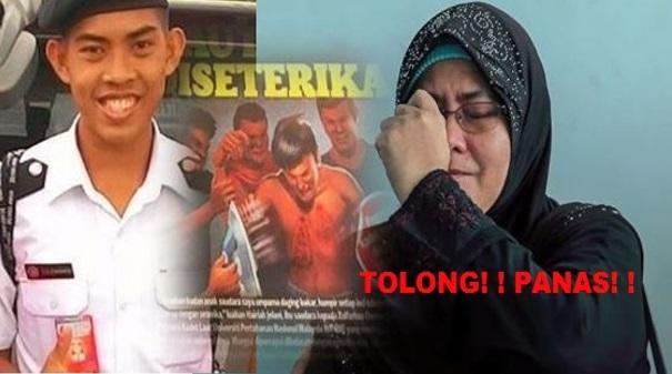 Ibu Menangis Tertuduh Buat Lakonan Semula Pembunuhan Zulfarhan Osman