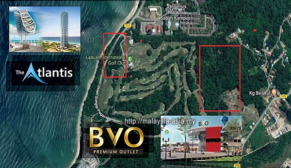 Location of BVO Duty Free Premium Outlet