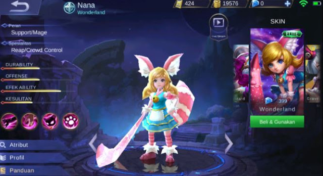 Jika Anda beberapa hari terakhir sedang mencari tahu siapakah Nana Mobile legends ini mak Identitas Hero Nana Mobile Legends Yang Sebenarnya