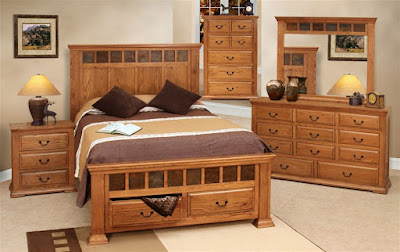 Rustic Wood Bedroom Furniture Sets for Small Bedroom