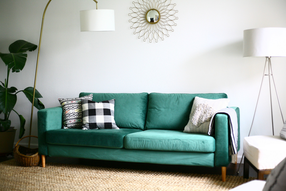 green velvet sofa ikea love the green velvet couch ikea furniture pinterest thesofa. Black Bedroom Furniture Sets. Home Design Ideas