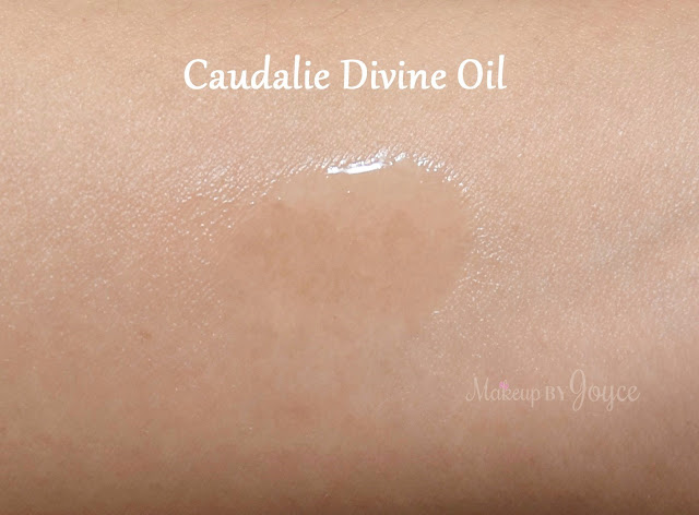 Caudalie Divine Oil Body Face Skin Swatches