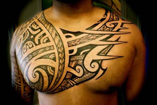 maori tribal dövmeler göğüs chest tattoos