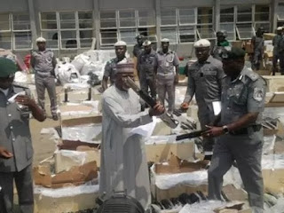 Customs Intercept Container Full of Riffles In Lagos