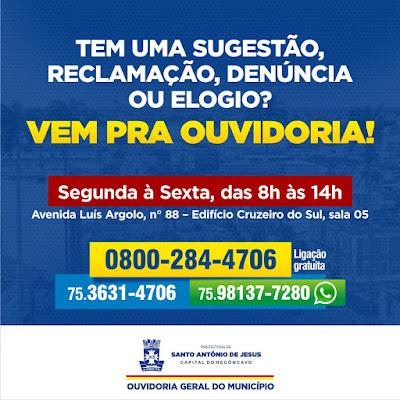 Vem Pra Ouvidoria! Prefeitura de SAJ lança campanha para ampliar diálogo com população