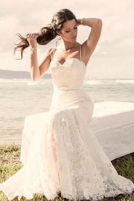 Vestido de Noiva Sereia com Alcinha