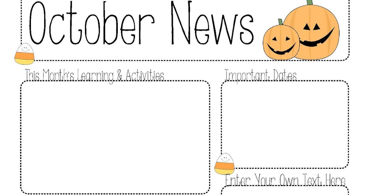 OctoberNewsletter October L Newsletter Templates Editable For Word on