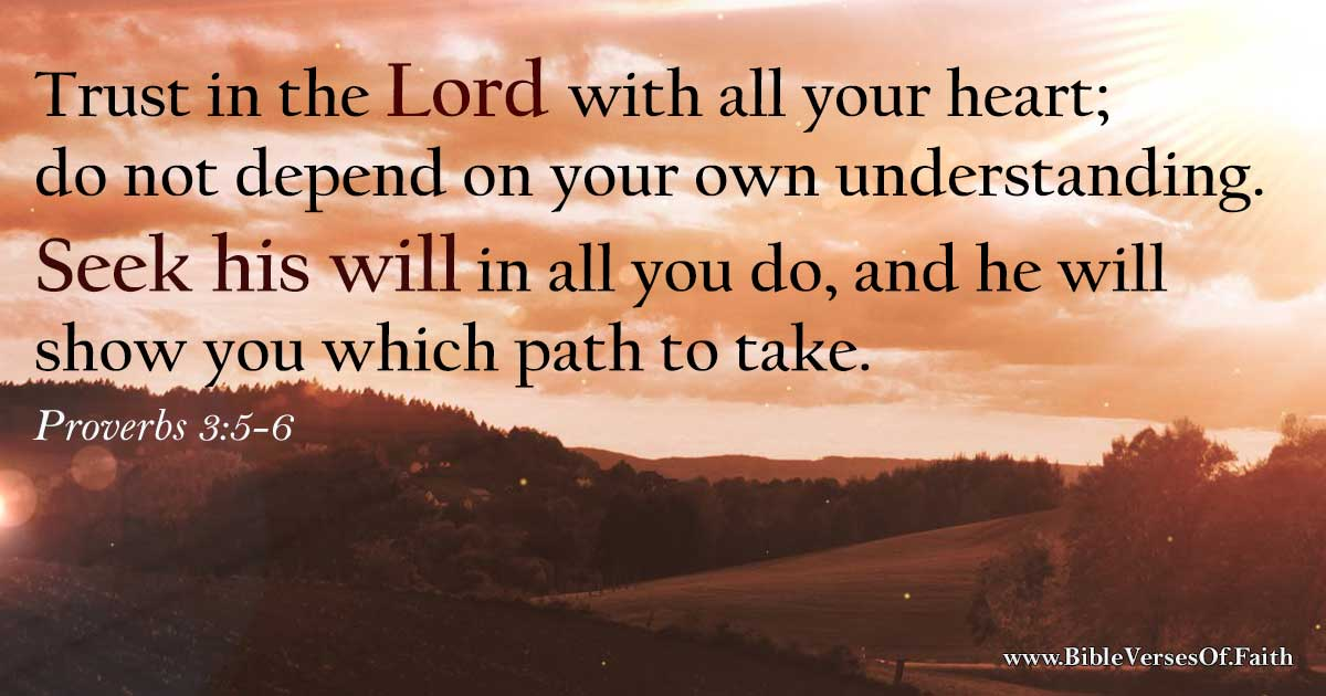 Proverbs 3:5-6 (NLT)