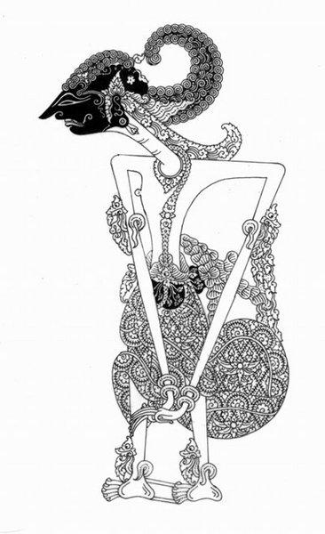 Lukisan timbul gambar wayang pandawa lima ukuran: Andre Vardery Firenze: SADEWA (Wayang)