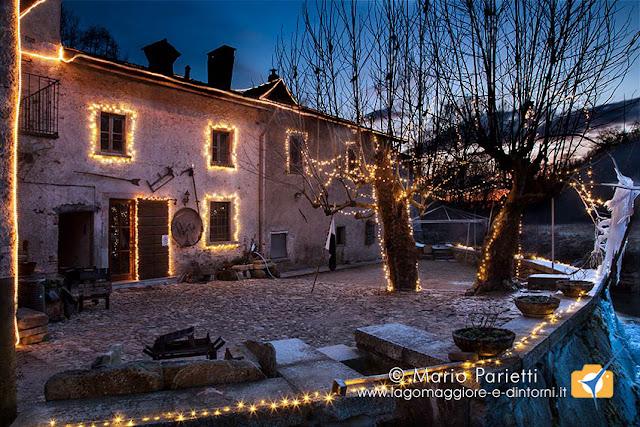 Mulino del Trotto a Cagno illuminato in occasione delle feste natalizie