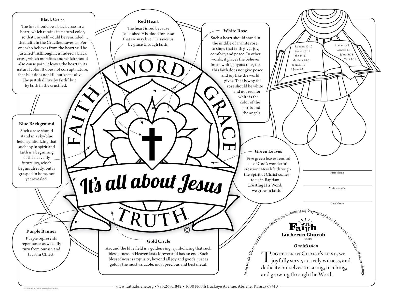 Family Tree Free Coloring Sheet Printable Lutheran