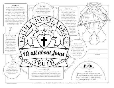 Free downloadable coloring sheet Christian Faith Art