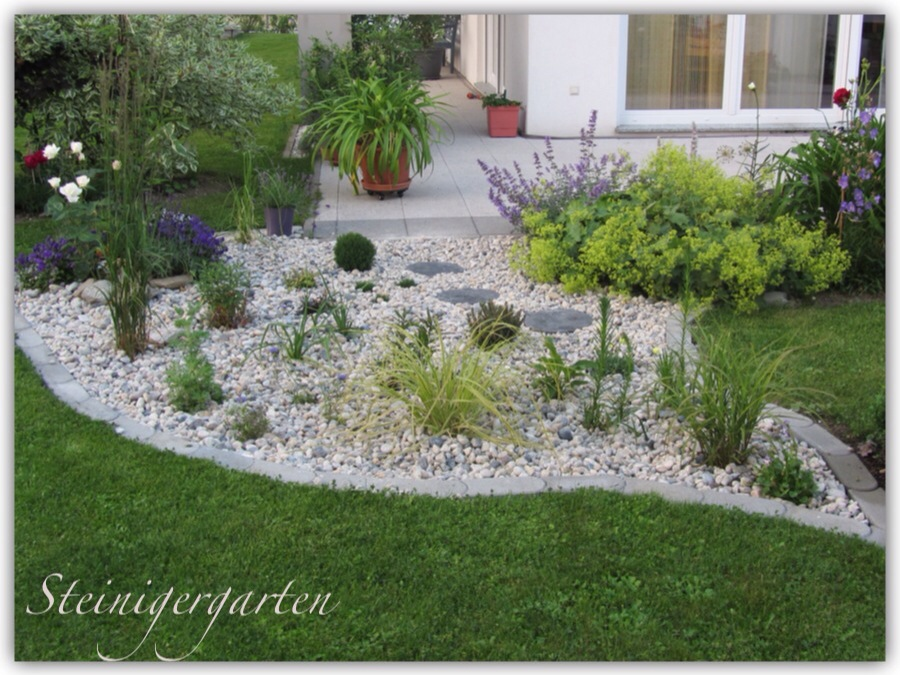 Projekt Kiesbeet Bergblumengarten