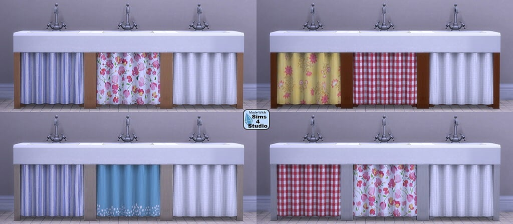 Sims 4 Cc S The Best Single Pipe Sink With Curtain By