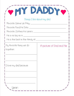 all about my dad printable craftbnb. Black Bedroom Furniture Sets. Home Design Ideas