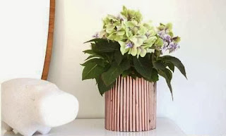 Cara Membuat Kerajinan Tangan Dari Kertas, Pot Bunga Koran Bekas 8