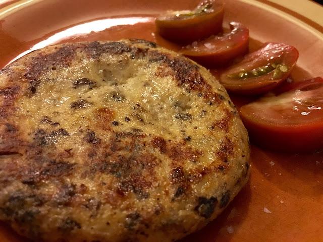 Spanish tortilla and fresh tomatoes
