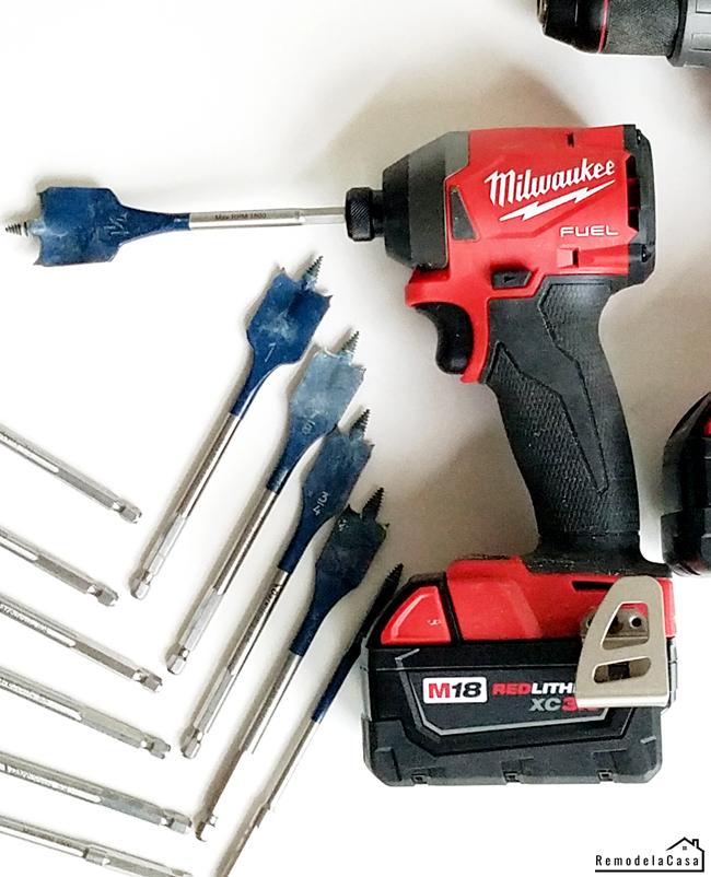How to make a spade bit holder