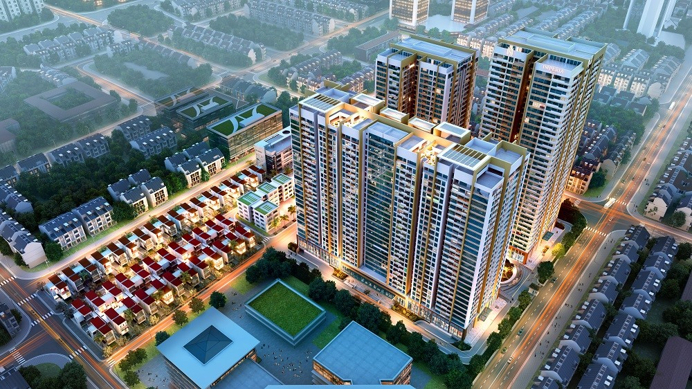 Phối cảnh tổng thể dự án chung cư Bel Air Hà Nội