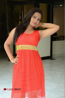 Actress Avanthika Stills in Sleeveless Red Short Dress  0017.JPG