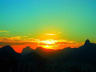 Pedra da Gávea e Corcovado vistos do Morro da Urca, Rio de Janeiro