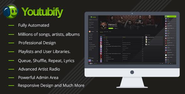 Youtubify v1.5 – Youtube Music Engine