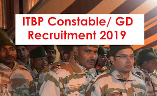 ITBP Recruitment 2019 - Apply Online for 121 Constable GD