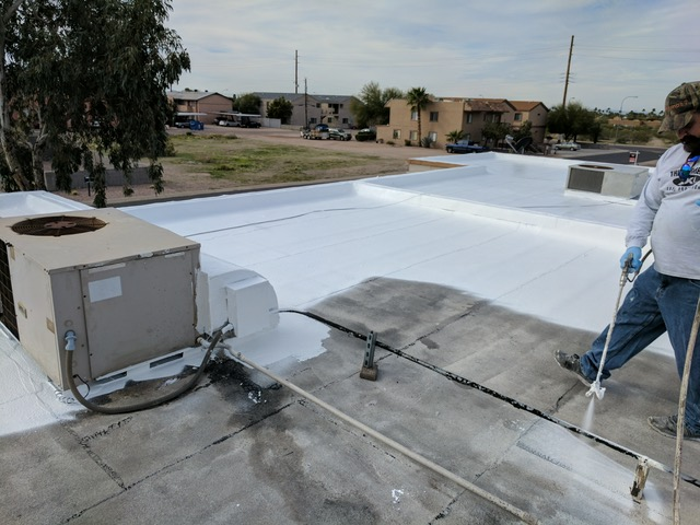 Elastomeric Roof Coating Project In Photos The Roof Medics