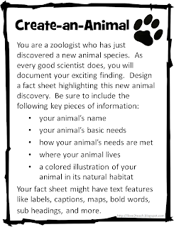 i love 2 teach create an animal create a plant freebie. Black Bedroom Furniture Sets. Home Design Ideas